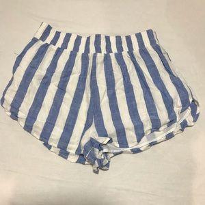 A pair of linen shorts.